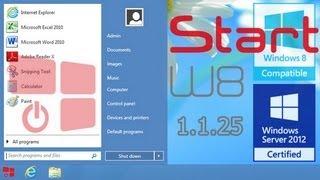 StartW8 1.1.25 - Start menu for Windows 8