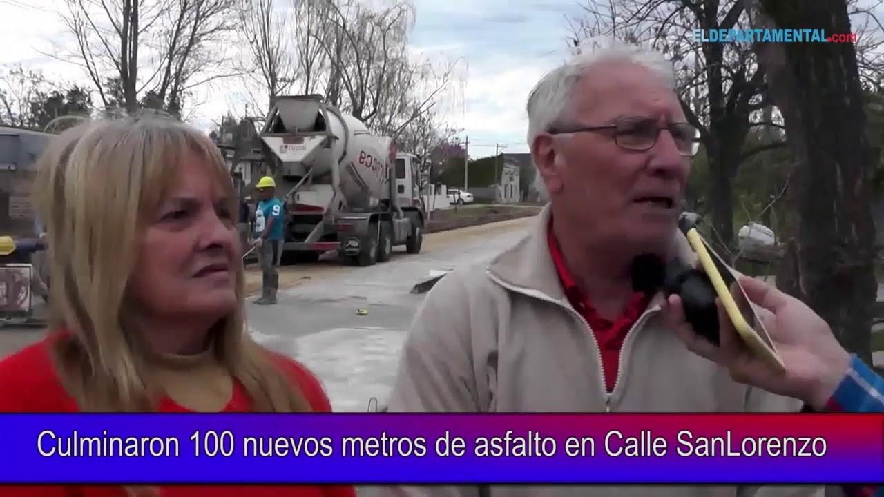 Culminaron 100 nuevos metros de asfalto en Calle SanLorenzo