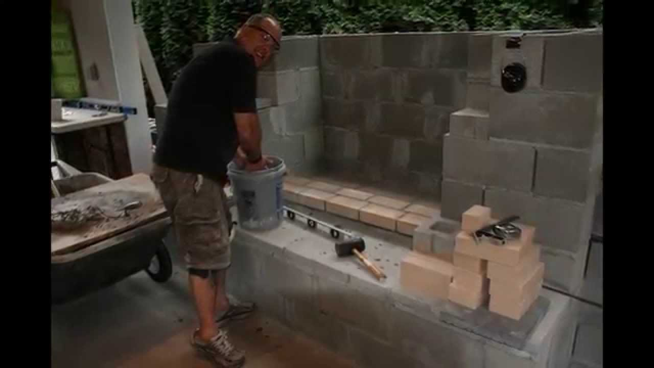 Outdoor Covered Patio Project With Fireplace And Grill Station   YouTube