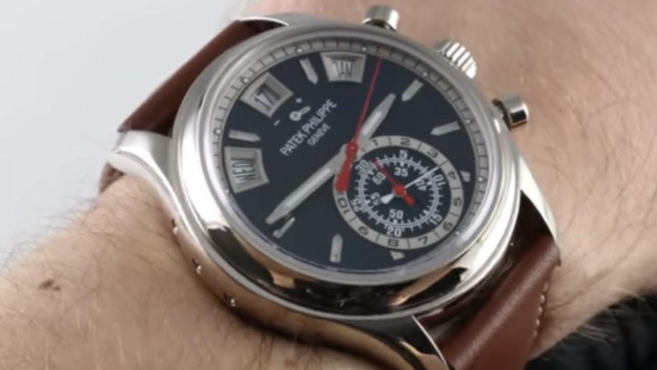 59e4fbbe651 Patek Philippe Complications Annual Calendar Chronograph 5960G-001 Luxury  Watch Review