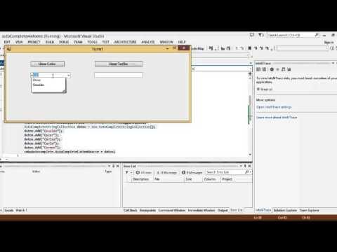 AutoComplete Combobox Textbox winforms C# VS 2013