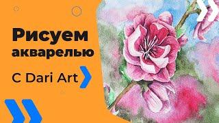 Как нарисовать цветы сакуры акварелью! #Dari_Art #рисоватьМОЖЕТкаждый(Свои идеи к видео урокам оставляйте в группе ВК https://vk.com/dari_art_artist Для работы нам потребуется: Простой каранд..., 2016-08-03T11:08:46.000Z)