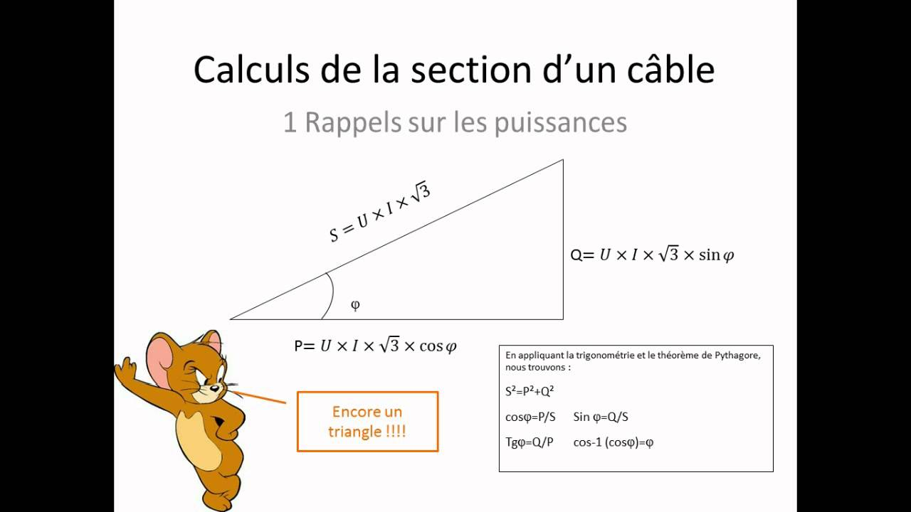 Calcul de c ble 1 rappel youtube - Chute de tension electrique ...