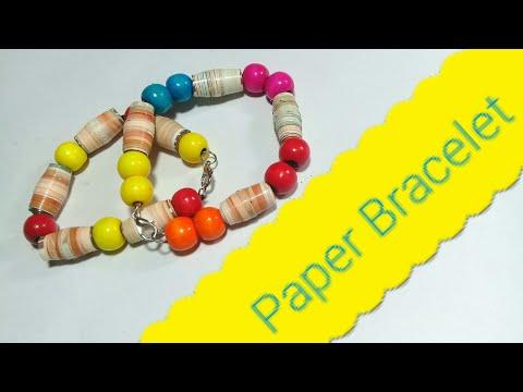 Magazine paper Bracelet   Paper Bead Bracelets   Woman Garden