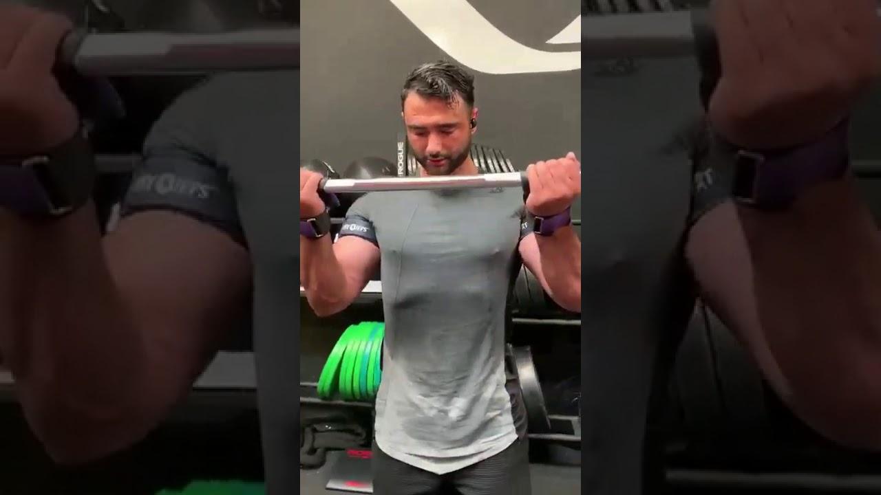 Fit Cuffs - Occlusion Training: Upper Body Cuffs biceps curls - Presentation by #noor.reno
