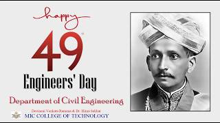Engineers day   Mokshagundam Visvesvaraya Biography   Pre-eminent engineer of India