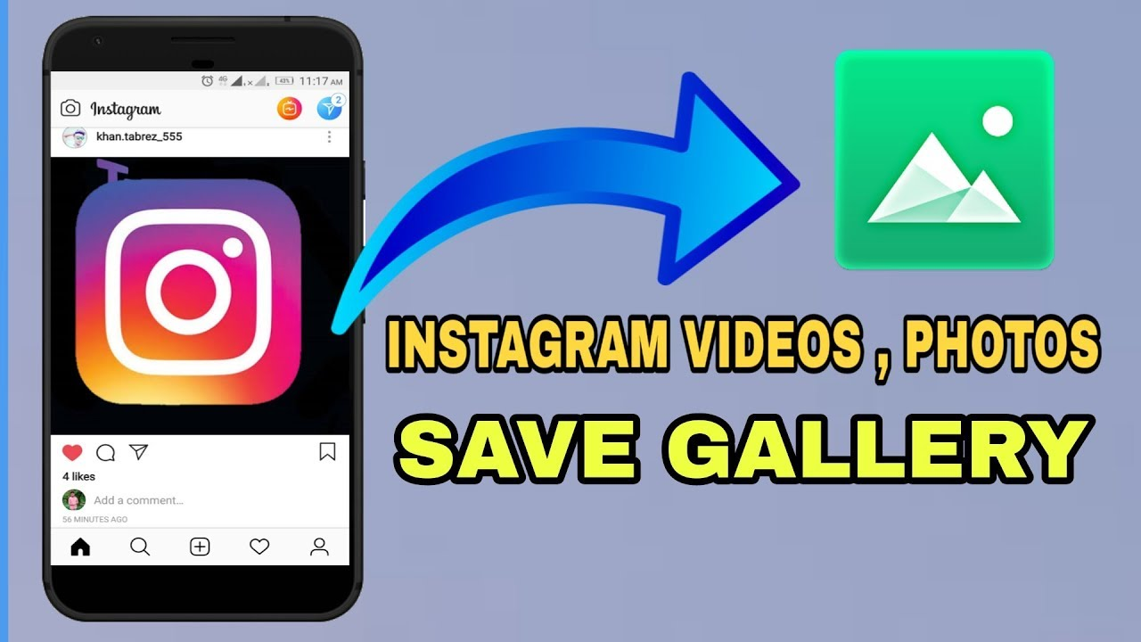 How to save instagram Videos, Photos in Gallery  instagram videos, photos  ko gallery me save kare