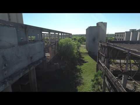 DJI Phantom 4 over Abandoned Longhorn Cement Factory in 4K