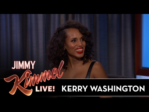 Jimmy Kimmel Shows Kerry Washington's High School Headshot