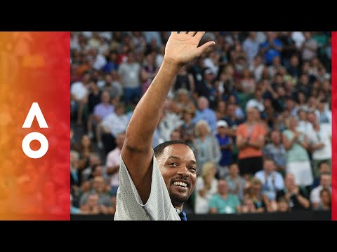 Will Smith gets rousing Rod Laver Arena reception  Australian Open 2018