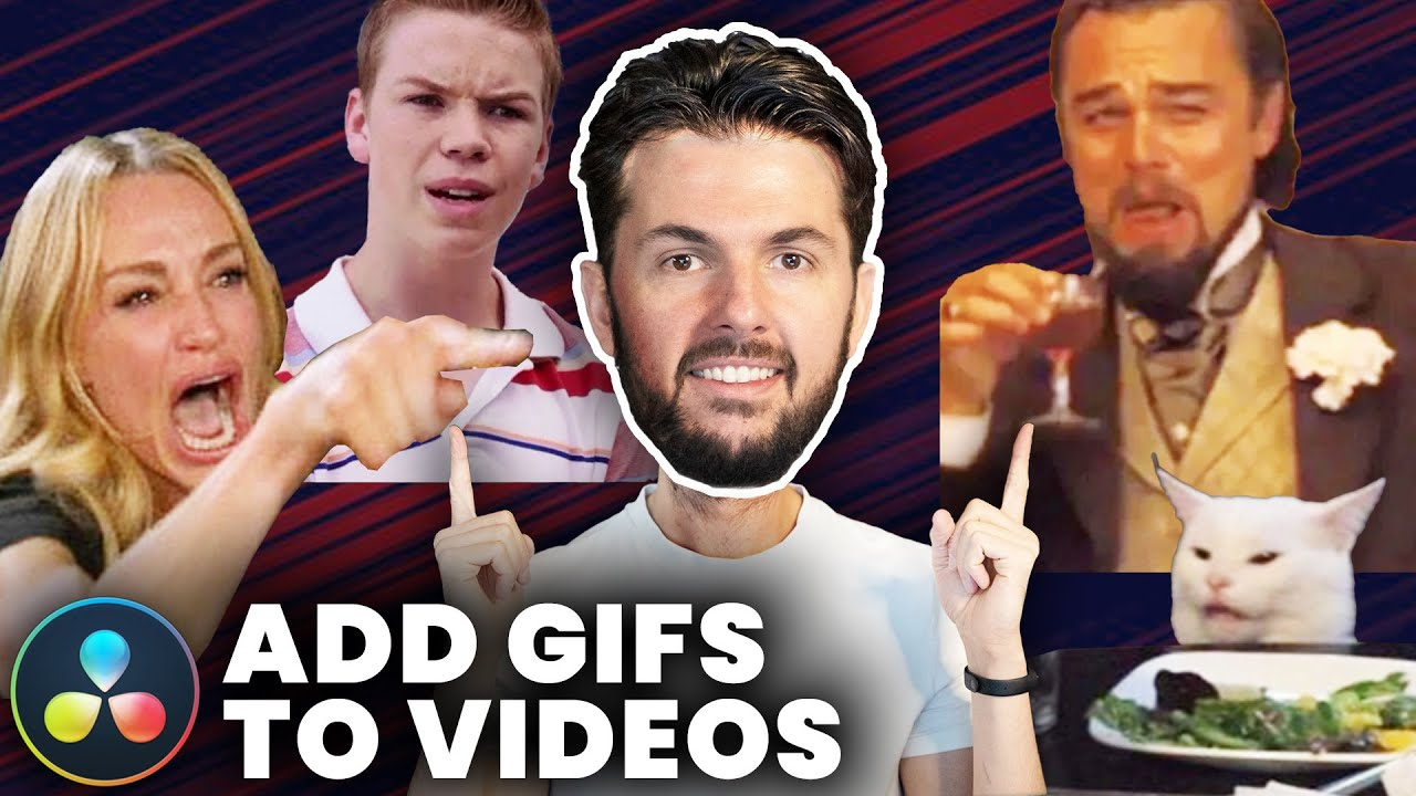 How To Add GIFs To Your Videos (DaVinci Resolve Tutorial)
