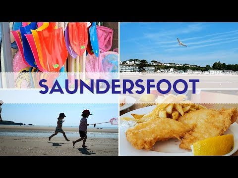 THE BEST FISH AND CHIPS IN WALES! Saundersfoot Beach Day!