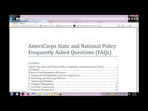 AmeriCorps Governing Documents Webinar