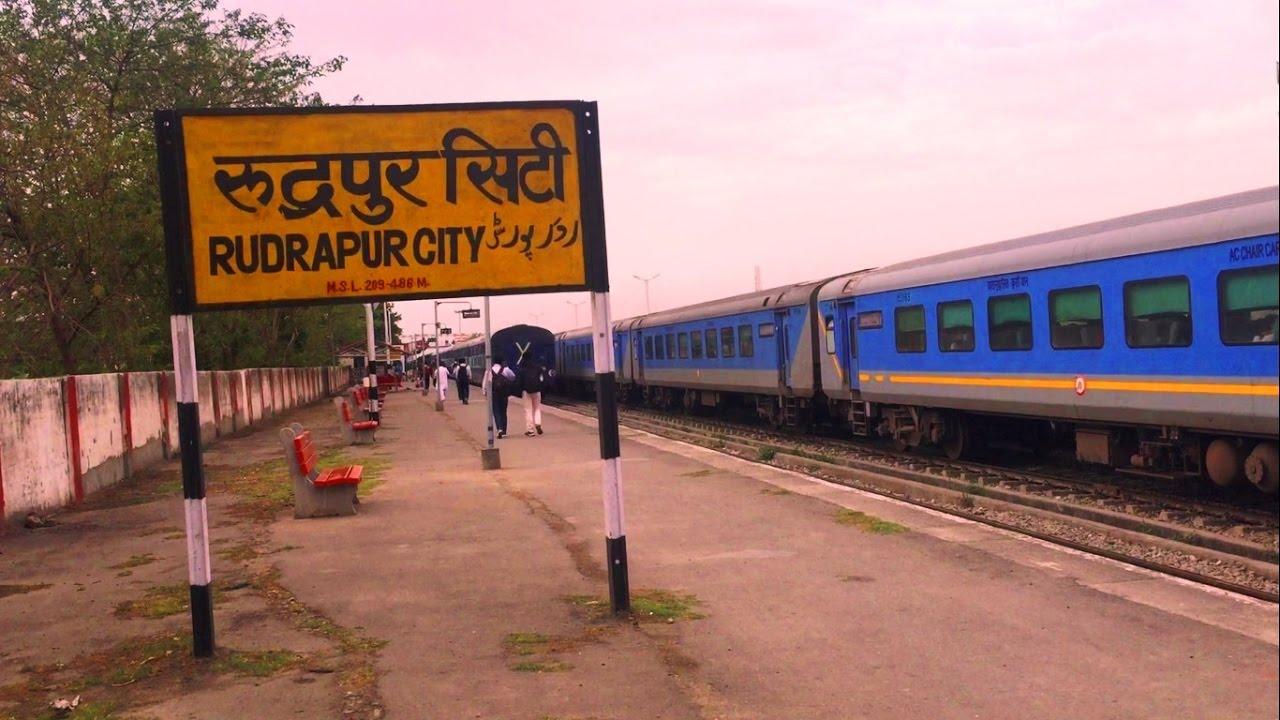 Kathgodam Shatabdi & Uttaranchal Sampark Kranti Express at Rudrapur City  Station