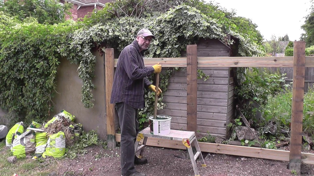 diy how to build a cheap strong garden fence pt 1 youtube. Black Bedroom Furniture Sets. Home Design Ideas
