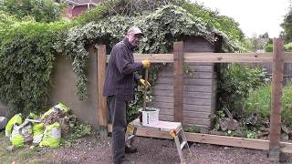 DIY: How To Build A Cheap Strong Garden Fence Pt 1