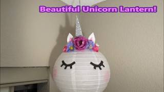 Unicorn Lantern DIY