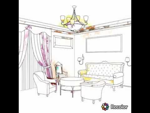غرفة المعيشة للتلوين Youtube