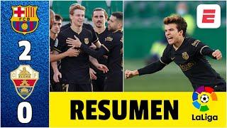 Barcelona 2-0 Elche. Frenkie de Jong y Riqui Puig consiguieron victoria fácil y sin Messi | LaLiga