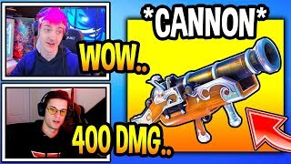 streamers-react-to-new-cannonball-launcher-in-fortnite-fortnite-moments