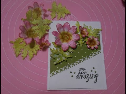 Stampin' Up! meets Heartfelt Creations - Daisy All Occasion card part 1