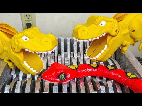 Dinosaurs Eat Snake! Dinosaur Toys Destroyed! Whats Inside Squishy Water bath Toys and Slime Toys?
