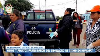POBLACIÓN DE HUALMAY, PARTICIPA DEL SIMULACRO DE SISMO