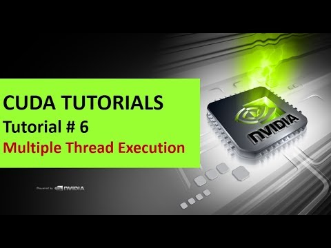 Cuda Tutorials - 6 #Multiple Thread execution Demonstration with Simple  cuda Program