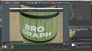 Brograph Tutorial 045 - Build a Barrel in C4D. Texture in Octane.