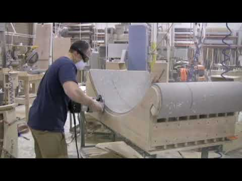 LG Hausys Solid Surface Nubicle Fabrication - YouTube