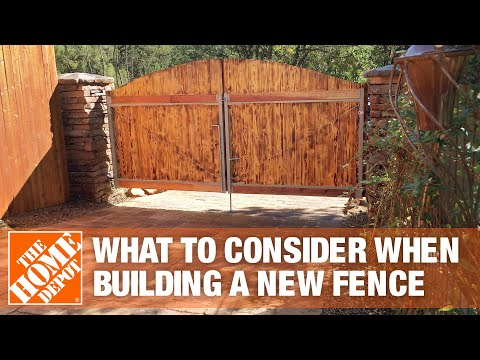 What To Consider When Building A New Fence | The Home Depot