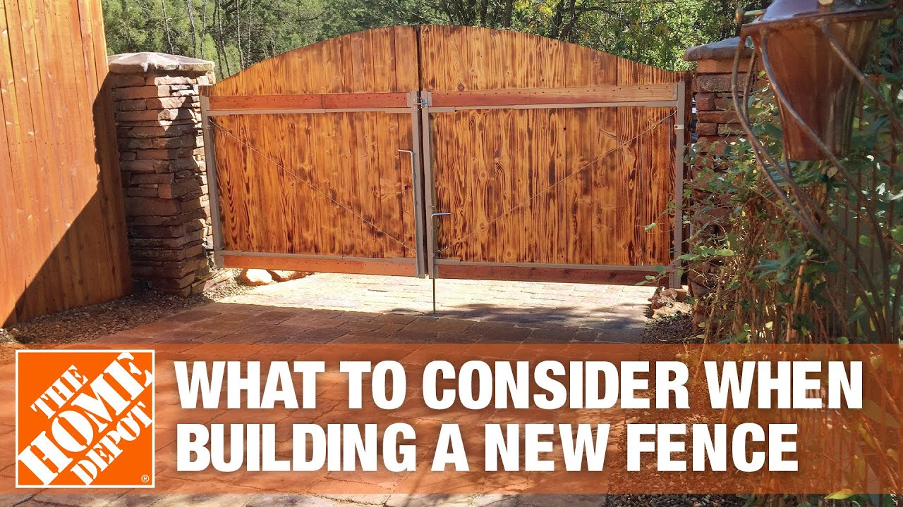 what to consider when building a new fence youtube