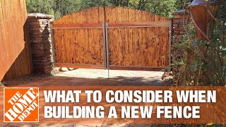 How To Build A Fence Part 1 - The Home Depot