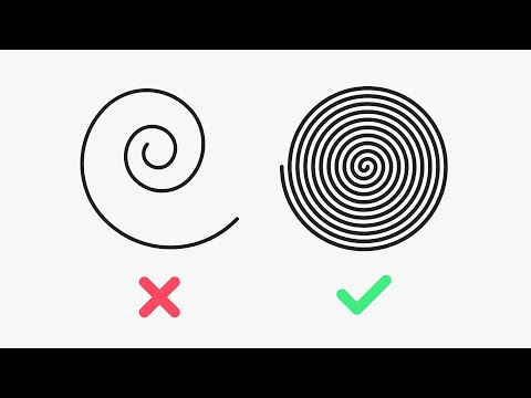 The SECRET to a LINEAR SPIRAL in Illustrator - YouTube