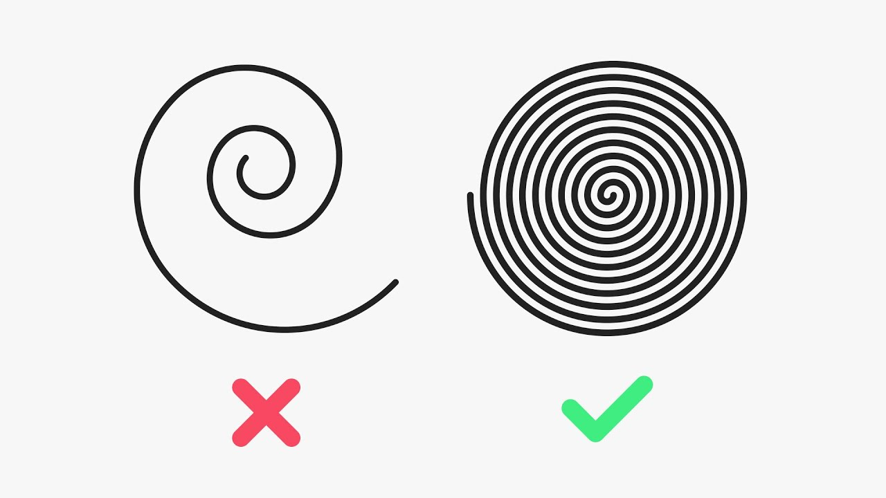 The SECRET to a LINEAR SPIRAL in Illustrator