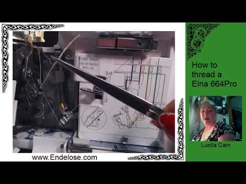 How to thread your Elna 664 Pro Serger
