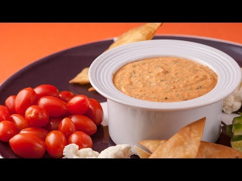 How to Make Roasted Red Bell Pepper Dip