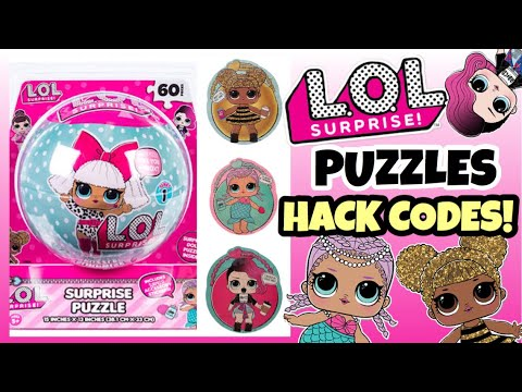 LOL SURPRISE SERIES 1 PUZZLE HACK CODES   COLLECT ALL 4 L.O.L DOLLS   Diva Queen Bee Merbaby Rocker