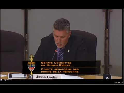 2017 02 08 Jason Godin testimony at Senate Human Rights Committee