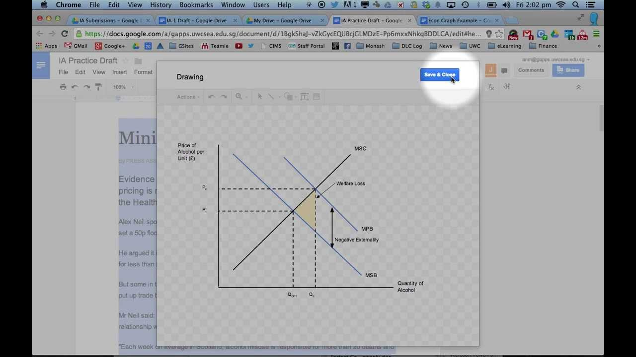 Drawing Economics Diagrams in Google Docs YouTube