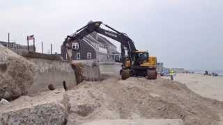 Excavators and Dump Trucks Working on the Beach | Mighty Machines | Construction Site