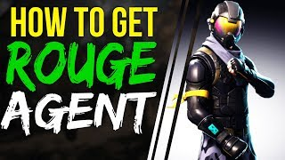 Fortnite BATTLE ROYALE How to GET ROGUE AGENT SKIN STARTER PACK - Rogue Agent Skin Outfit back bling