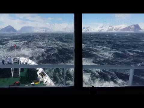 60 knots winds in Antarctica