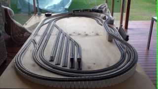 8 x 4 ho model train layout with flyover part 2