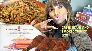 Cooking Greenbeans with Smoked Turkey Legs