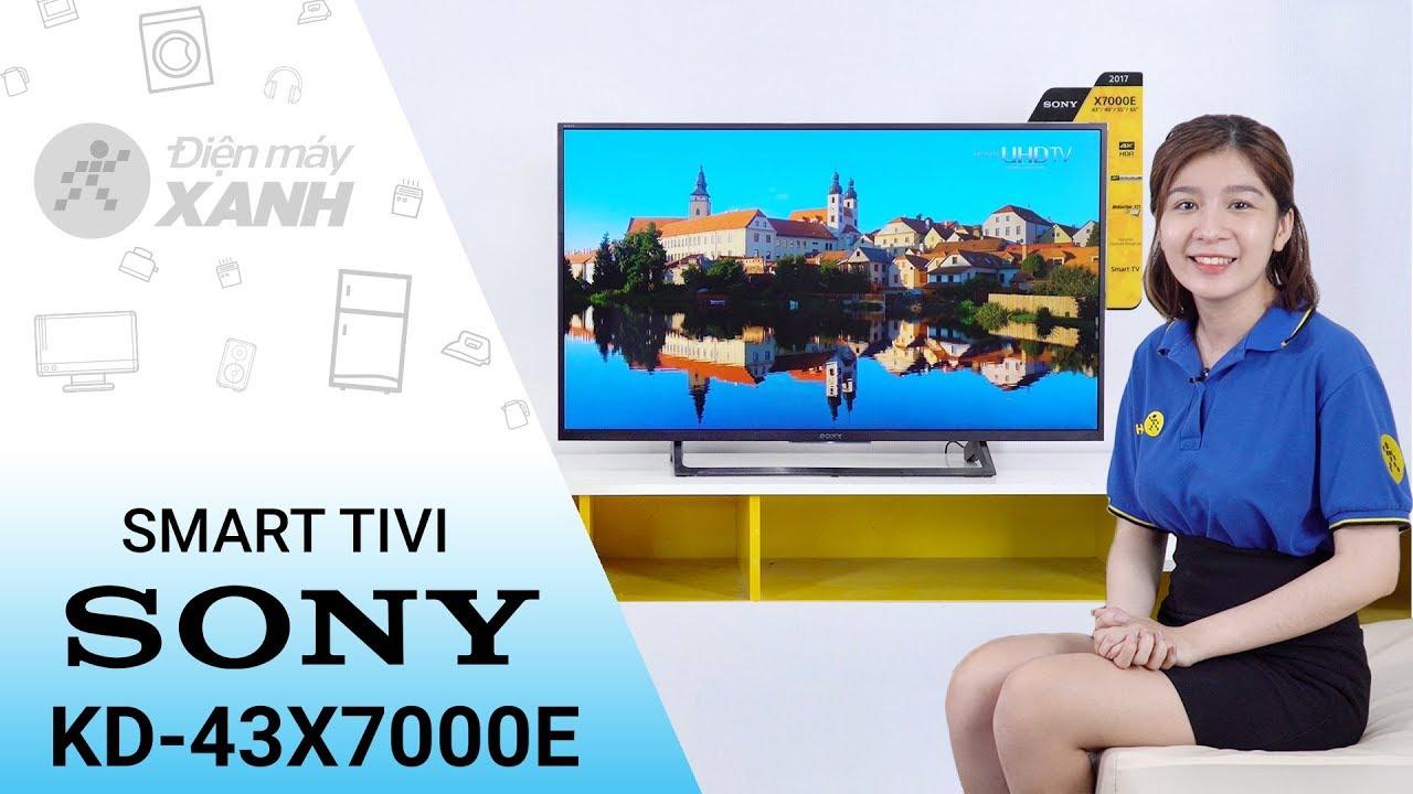Internet Tivi Sony 4K 43 inch KD – 43X7000E – Mạnh mẽ và tinh tế | Điện máy XANH