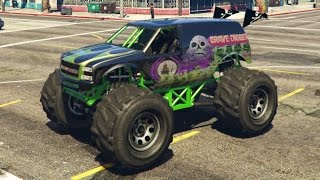 GTA 5 PC Mods Grave Digger Monster Truck Texture Mod