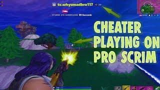 *Fortnite Hacker* Cheater playing in Pro Scims... 25Kills Fortnite Battle Royale