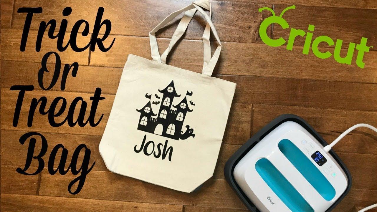 Halloween Trick Or Treat Bag With Cricut Youtube