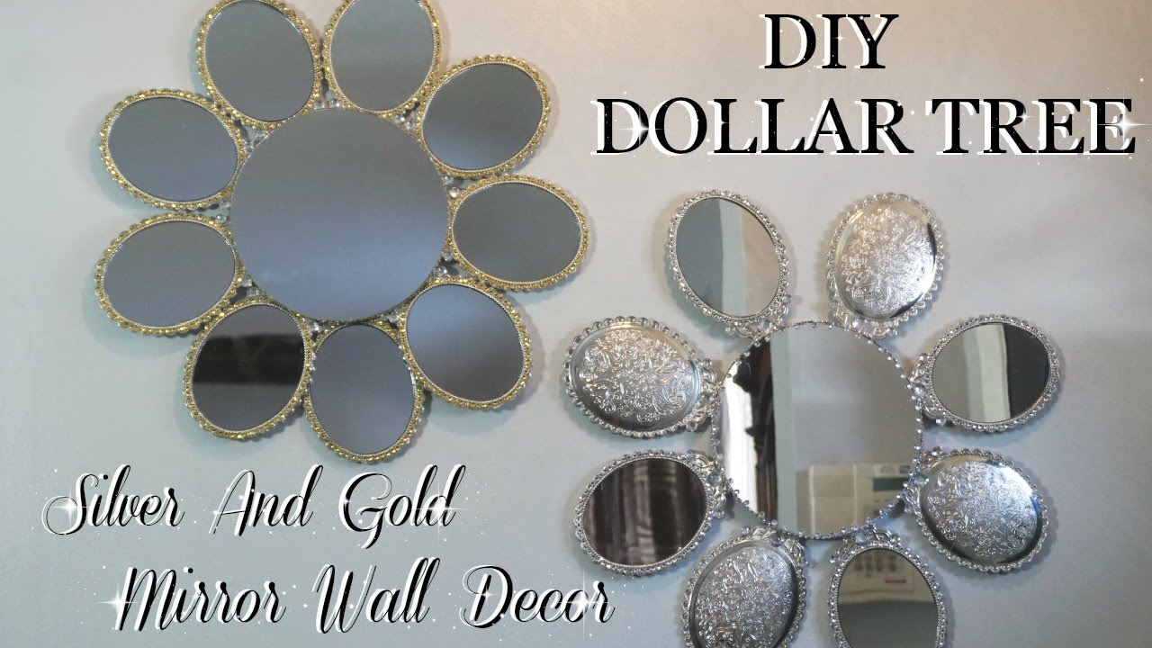 SILVER & GOLD MIRROR WALL ART DECOR